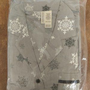 New Ambrielle Snowflakes Cotton Flannel Pajamas